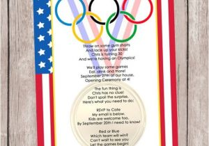 Winter Olympics Party Invitations Olympic Games A Party Invitation Personalized by