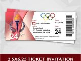 Winter Olympics Party Invitations Olympic Party Ticket Invitation by Redvelvetparties On