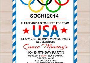 Winter Olympics Party Invitations Printable Olympic Party Invitation