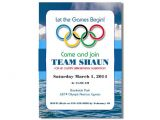 Winter Olympics Party Invitations Winter Olympics Birthday Invitation Printable Digital File