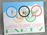 Winter Olympics Party Invitations Winter Olympics Custom Party Invitations Printed Set Of 8