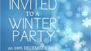 Winter Party Invitation Template Winter Party Invitation Template Postermywall