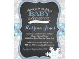 Winter Wonderland Baby Shower Invitation Wording Winter Wonderland Snowflake Baby Shower Invitation