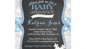 Winter Wonderland Baby Shower Invitations Templates Winter Wonderland Snowflake Baby Shower Invitation