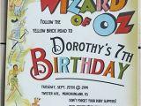 Wizard Of Oz Birthday Party Invitations Via Etsy Com Loraleelewis Wizard Of Oz Invitation 20