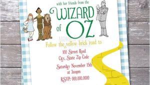 Wizard Of Oz Birthday Party Invitations Wizard Of Oz Birthday Party Invitation Over the Rainbow