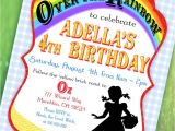 Wizard Of Oz Birthday Party Invitations Wizard Of Oz Inspired Invitation Over the Rainbow Collection