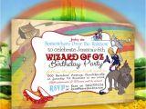 Wizard Of Oz Birthday Party Invitations Wizard Of Oz Invitation