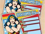 Wonder Woman Party Invitation Template Free Printable Wonder Woman Birthday Invitation