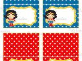 Wonder Woman Party Invitation Template Instant Download Printable Wonder Woman Food Tent Cards