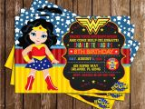 Wonder Woman Party Invitation Template Novel Concept Designs Wonder Woman Superhero
