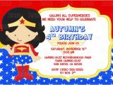 Wonder Woman Party Invitation Template Printable Wonder Woman Birthday Party by Partyinnovations09