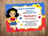 Wonder Woman Party Invitation Template Wonder Woman Invitations