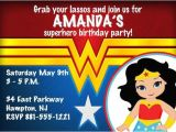 Wonder Woman Party Invitation Template Wonder Woman theme Personalized Printable by