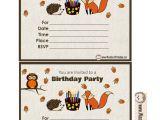 Woodland Birthday Invitation Template Free Printable Woodland Birthday Party Invitations