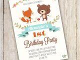 Woodland Birthday Invitation Template Woodland Birthday Party Invitation Template Edit with