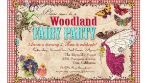 Woodland Fairy Party Invitations Woodland Fairy Party Invitation 5 Quot X 7 Quot Invitation Card