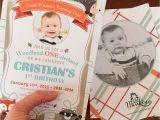 Woodland Onederland Birthday Invitations Birthday Invite Woodland One Derland Little Monkey Designs