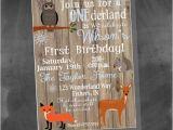 Woodland Onederland Birthday Invitations Items Similar to Digital Woodland Animals Winter