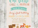 Woodland themed First Birthday Invitations Woodland themed Birthday Invitation forest Animals