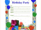 Word Birthday Party Invitation Template 6 Birthday Party Invitation Template Word Teknoswitch