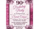 Wording for 90th Birthday Party Invitations 90th Birthday Party Invitations Party Invitations Templates