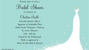Wording for A Bridal Shower Invitation Bridal Shower Invitations Bridal Shower Invitations