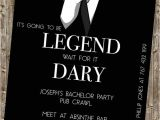 Wording for Bachelor Party Invitations Bachelor Party Invite Legendary Himym
