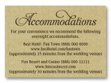 Wording for Hotel Information On Wedding Invitations Wedding Accommodations Cards Wedding Ideas and thoughts