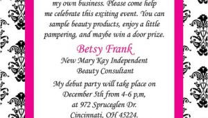 Wording for Mary Kay Party Invitations Mary Kay Party Invitation Wording