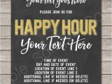 Work Party Invitation Template Chalkboard Happy Hour Invitation Template Printable