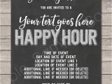 Work Party Invitation Template Happy Hour Invite Template Printable Happy Hour Invitation