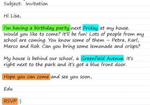 Write An Invitation to A Party An Invitation to A Party Learnenglish Teens British