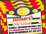 Wwe Birthday Party Invitations 5 Best Images Of Free Printable Wwe Birthday Invitations