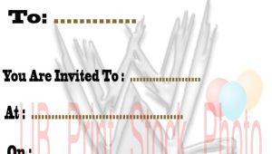 Wwe Birthday Party Invitations Free 5 Best Images Of Free Printable Wwe Birthday Invitations