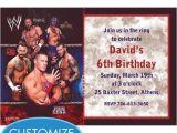 Wwe Birthday Party Invitations Wwe Custom Invitation My Prince Evan Pinterest
