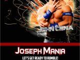 Wwe Birthday Party Invitations Wwe John Cena Birthday Invitations by Xochitlmontana On Etsy