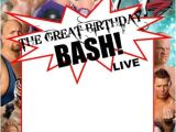 Wwe Birthday Party Invitations Wwe Party Invitation Template Copy Paste and Edit On