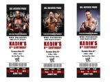 Wwe Birthday Party Invites Printable Wwe Birthday Party Invitations Tickets by