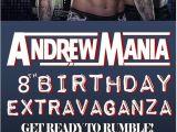 Wwe Birthday Party Invites Wrestling Birthday Parties Printed and Birthdays On Pinterest