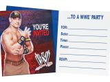 Wwe Birthday Party Invites Wwe Party Invitations Set Of 8 Pack Of 2