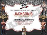 Wwe Birthday Party Invites Wwe Wrestling Birthday Invitation by Kaitlinskardsnmore On