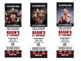 Wwe Wrestling Birthday Party Invitations Printable Wwe Birthday Party Invitations Tickets by
