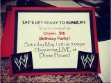 Wwe Wrestling Birthday Party Invitations Wwe Birthday Party Invite My Babies I Love You and I