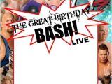 Wwe Wrestling Birthday Party Invitations Wwe Party Swimming Pool Parties and Party Invitation