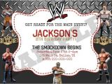 Wwe Wrestling Birthday Party Invitations Wwe Wrestling Birthday Invitation by Kaitlinskardsnmore On
