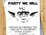 Yoda Birthday Invitations Yoda Birthday Invitations Star Wars Darth by