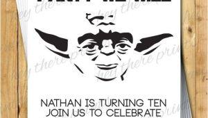Yoda Birthday Invitations Yoda Birthday Invitations Star Wars Darth by