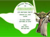 Yoda Birthday Party Invitations Star Wars Yoda Birthday Invitation Printable