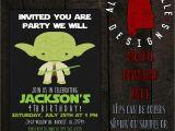 Yoda Birthday Party Invitations Yoda Birthday Invitation by Alabamabelledesigns On Etsy